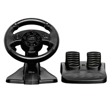 wired USB video game racing steering wheel with foot pedal for PC / X-INPUT /PS2 /PS3