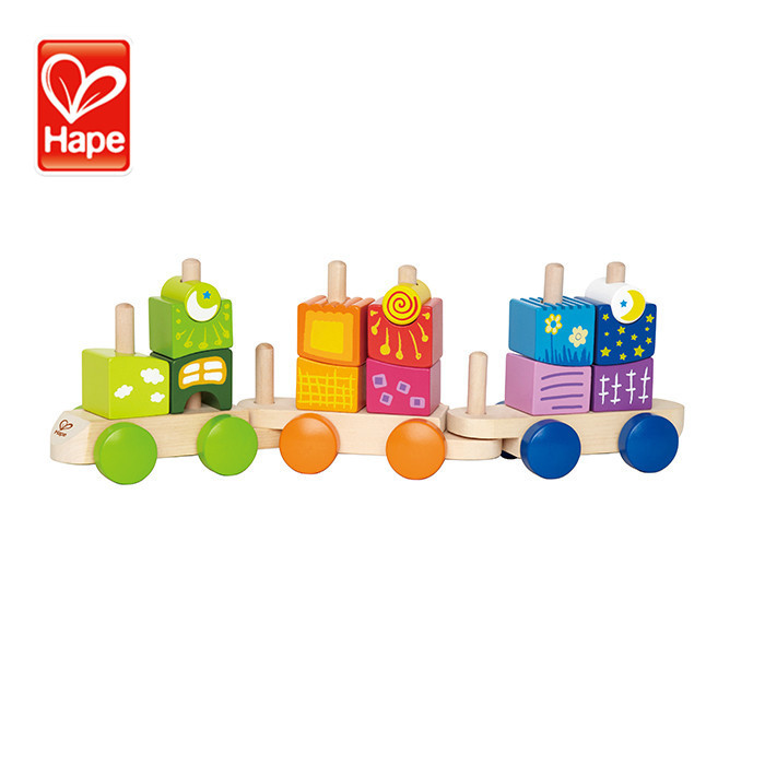 New top quality wooden block train