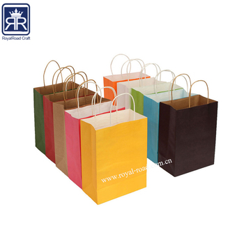 17071606 traditional style color printing foldable kraft shopping bag with logo