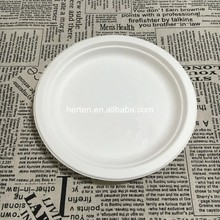 Wholesale carton cheap plain white ceramic plate restaurant tableware Bagasse tableware plate