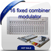 CATV Fixed combination Modulator /CATV Analog 16 channel fixed combiner modulator