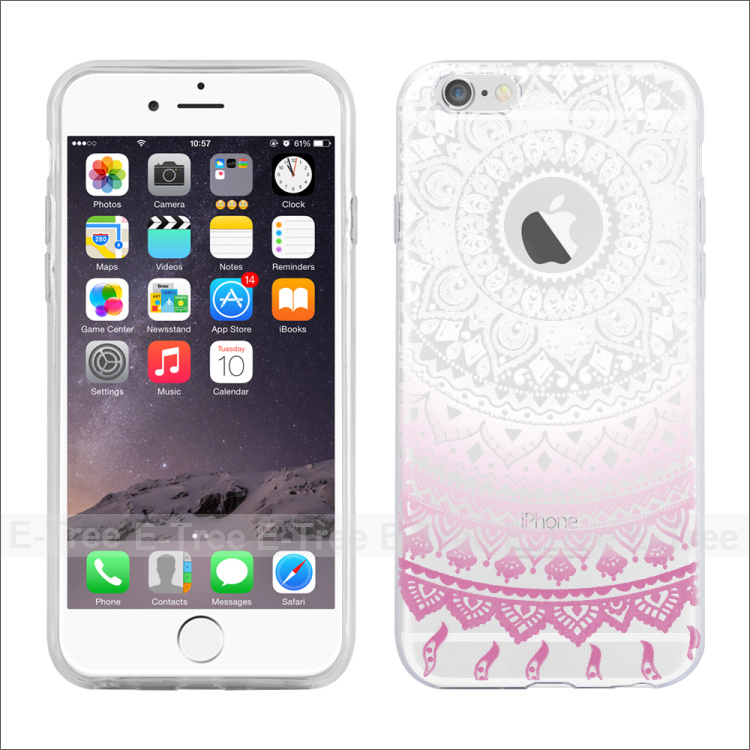 For Apple Iphone 6s 6plus Tpu case, Smart Design Custom Print Soft TPU Case Cover