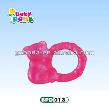 cute little animal silicone baby water filled teether