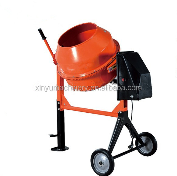 120L concrete mixer with handle