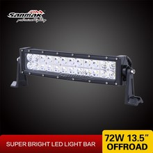 Double row Epistar 72W aluminum housing 4X4 driving 12v led light bar for offroad vehicle