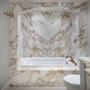 White Marble Calacatta Gold Polished