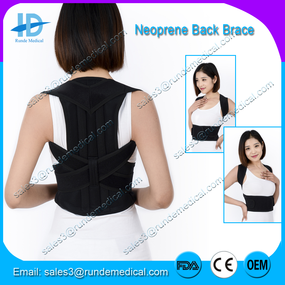 Adjustable Posture Corrector Back Support Brace Shoulder Correct Lumbar Brace