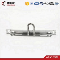 Overhead hot dip galvanized angle steel bar for pole line fitting