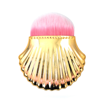 Popular Glitter Yellow Shell Makeup Brush For Liquid Foundation