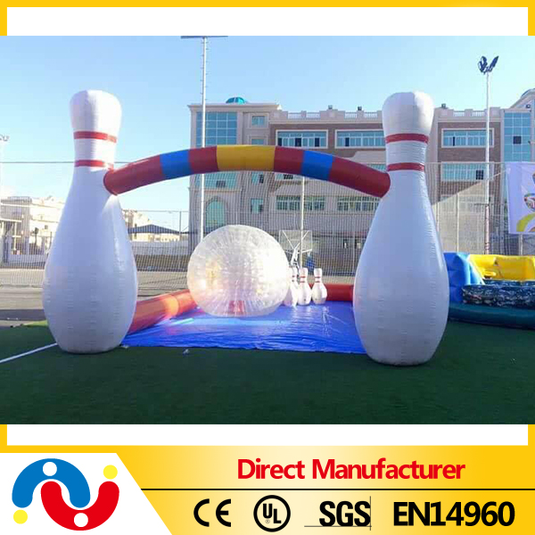 7*10m inflatable bubble bowling sport interactive games for home/comercial/rentals/hire use