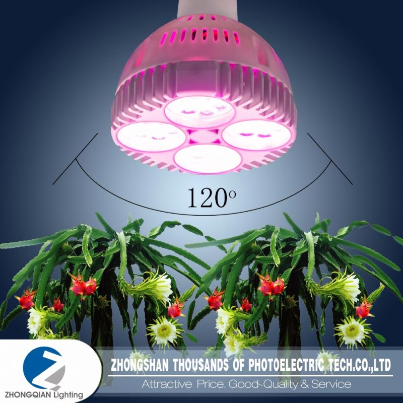 Vertical hydroponics 24w e27 full spectrum led grow lights
