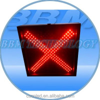 400mm red cross traffic signals symbols in india