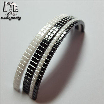 Customized Ladies Jewelry Black/White Zirconia Ceramic bangles for luxury