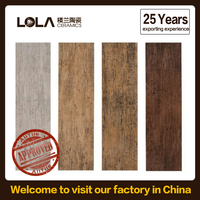 Foshan new design ceramic glazed wooden tile,decorative ceramic tile,standard ceramic tile sizes