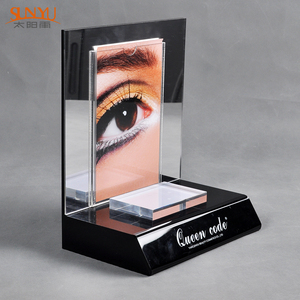 Custom Counter Top Mirror Acrylic Cosmetics Perfume parfum Bottle Display Stand