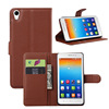 Fancy wallet leather flip hard cell phone case for lenovo s850