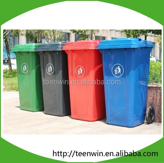 Plastic wheeled outdoor dustbin/trash can/waste bin