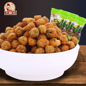Hot Sale delicious chinese Food 300g Spicy fried Green Peas Snack For Kids