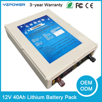 Protable DC 12V 40Ah/50Ah/60Ah Li-ion Super Rechargeable Battery Pack