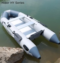 Large Military Inflatable Boat With Outboard Motor