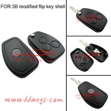 New style OEM ODM 3 buttons Renault modified flip key shell for Renault folding key