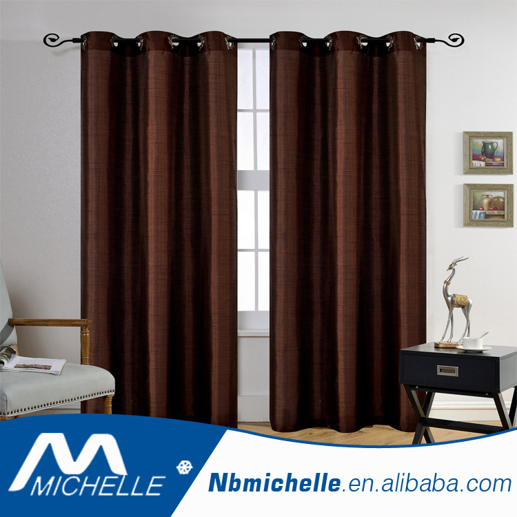 Free sample available fancy faux silk window curtain