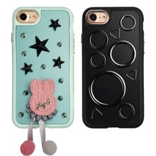 C&T 3D Mobile Phone Decorative Sticker TPU Bumper + Protective Case Hard Cover For iPhone 7 4.7 inch