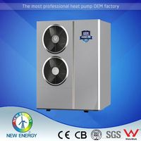 Instant air source dc inverter heat pump heating/cooling+dhw recovery evi heat pump