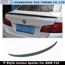 F10 Spoiler For BMW F10 M5 Carbon Fiber Rear Trunk Spoiler 518i 520i 525i 530i F10 Sedan Rear Wing Spoiler CF