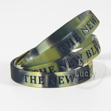 Cool design debossed logo camouflage silicone wristband