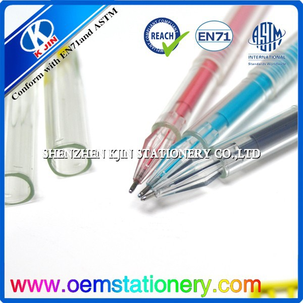 Wholesale color plastic gel pen with clip/ink pen