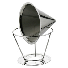 Eco-friend Durable Custom Logo Funnel Coffee Filter With Separated Stand