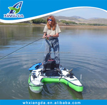 2015 China Factory Cheap Inflatable Fly Fishing Boat Individual Pontoon Boat with Paddle