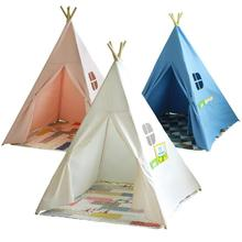 cartoon teepee kid play tent cotton canvas kids teepee playhouse fabric children bed tent indoor