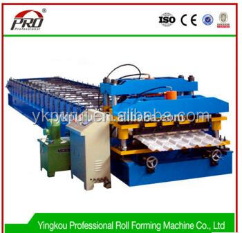 Corrugated sheet metal roof construction equipment price