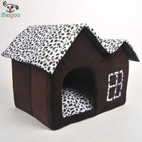 Luxury Pet Plush Folding Pet Igloo Bed Double Proofs Detachable Winter Dog Bed house