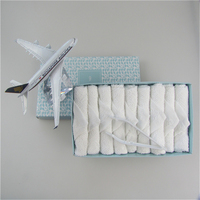 100% Cotton disposable airline hot towels