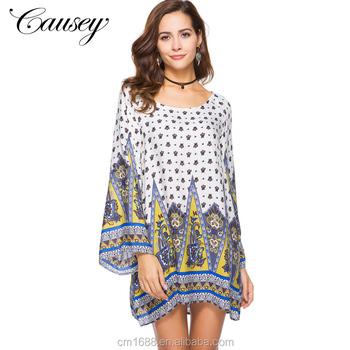 2019 New Model African Print Maternity Batik Summer Sexy Longsleeve Mini Dresses