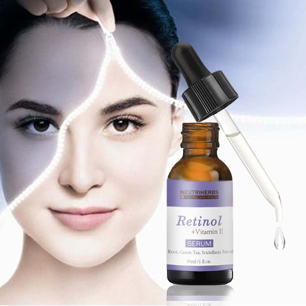 Innovative skin whitening products retinol serum vitamin e oil essence instant face lift, pores repairing, acne removal