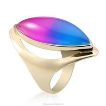 New coming Factory Outlet women's gemstone gold plated rings with reasonable price for women's party wedding
