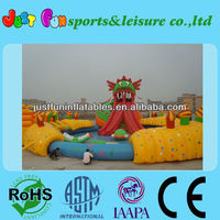 red dragon giant inflatable water slide with pool
