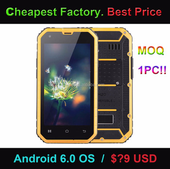 Cheapest Factory 4.5 inch 3G rugged smartphone Android 6.0 OS Rugged mobile phone