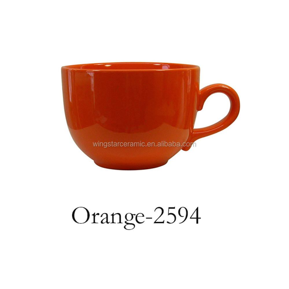 china manufacturer factory direct wholesale promotional gift item eco ware ceramic flat jumbo mugs