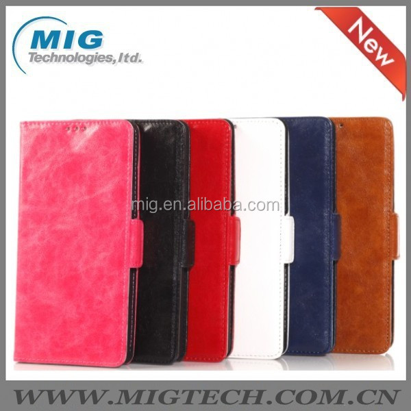Oil skin leather case for Samsung galaxy note 4, Phone cover For samsung note 4 mobile phone