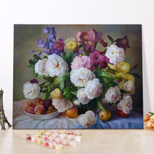 Wholesale Diy Painting By Numbers No Frame Or Frame Item Landscape Flowers Animals Figure Painting 40x50cm