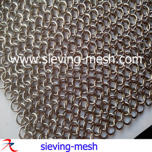 Stainless steel chainmaille,ss chainmail mesh,ss rings mesh