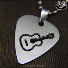 Simple indiriduality popular guitar pick necklace