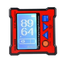 New Arrival DXL360S Digital Protractor Inclinometer Dual Axis Level Measure Box Angle Ruler Elevation Meter
