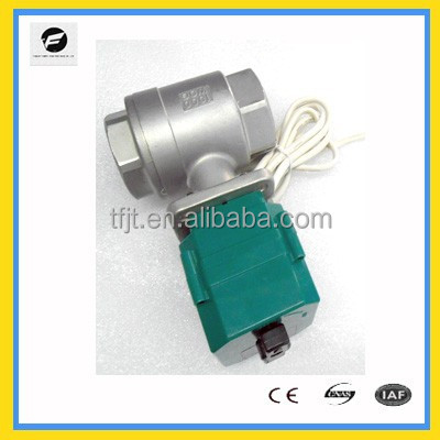 "SUS304 CR05 CTF-001 <strong>1</strong>/2"" to 2"" Electric motor Valve with manual override For Auto drain& Water cooling system"