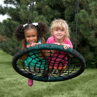 Carries Detachable Foldable Nest Swing Outdoor Spider Web Swing Children Net Round Swing